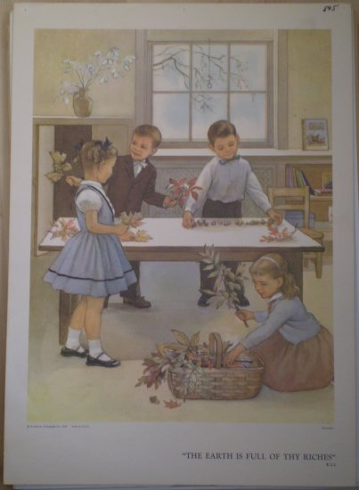 The Earth Is Full Of Thy Riches Providence Lithograph 1959 Handsaker Print