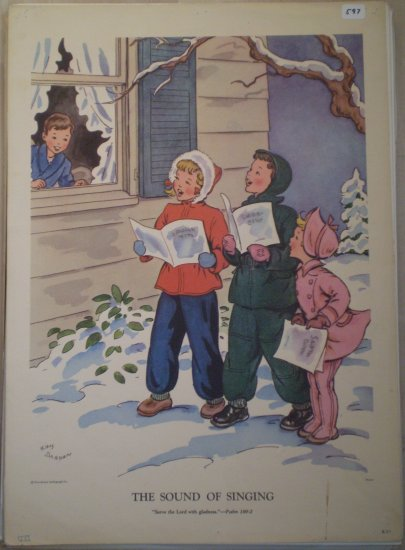 The Sound of Singing Providence Lithograph Vintage Draper print