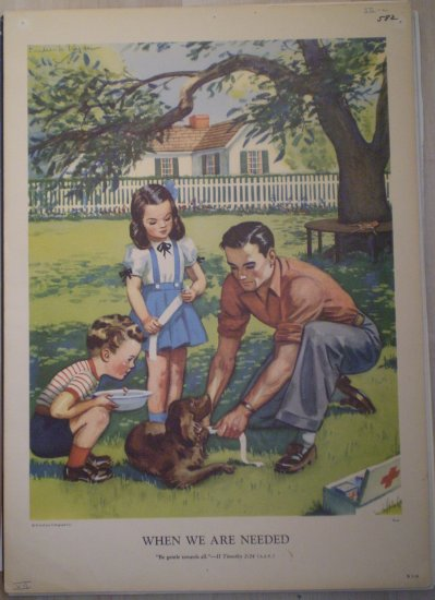When We Are Needed Providence Lithograph Vintage Ryan print