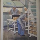 Working For Us Providence Lithograph Vintage Handsaker Print