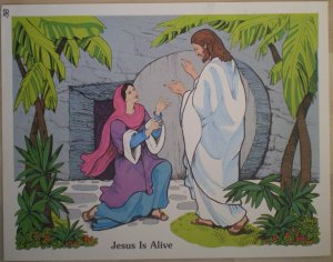 Jesus Is Alive Teaching Aid 8 1982 David C Cook Poster