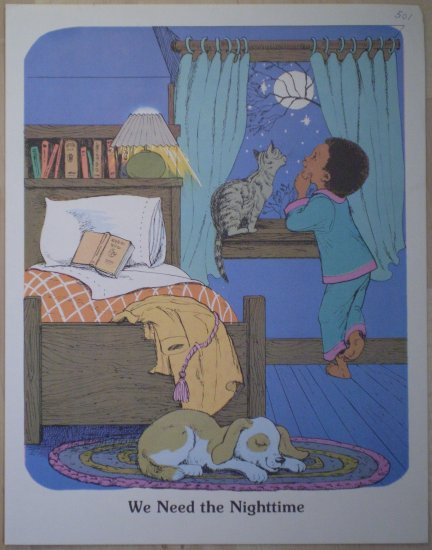 We Need The Nighttime Teaching Aid 18 1980 David C Cook Poster