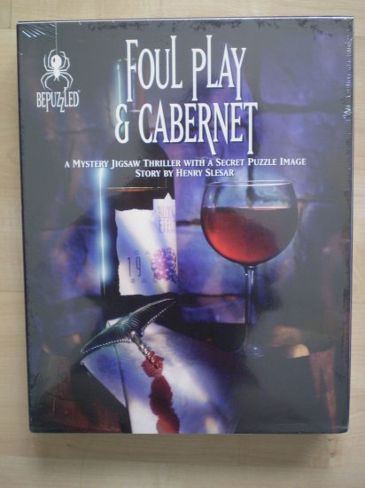 Foul Play & Cabernet Mystery Jigsaw Puzzle BePuzzled 1994