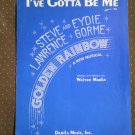 I've Gotta Be Me Sheet Music Walter Marks 1967 Damila