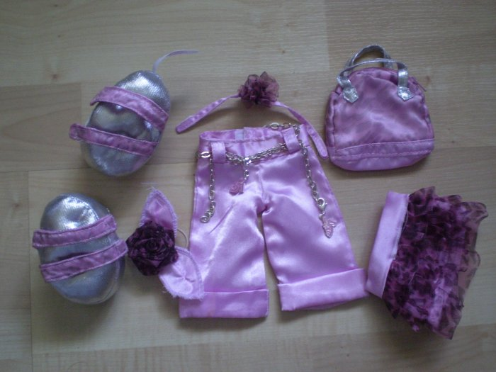 Friends 2B Made Build a Bear Pink Silver Rode Lot Clothes