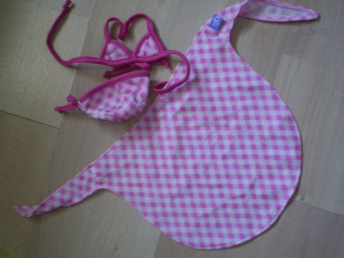 Friends 2B Made Build a Bear 2 piece bikini beach wrap checkered
