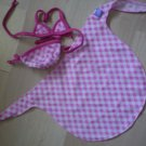 Friends 2B Made Build a Bear 2 piece bikini beach wrap checkered