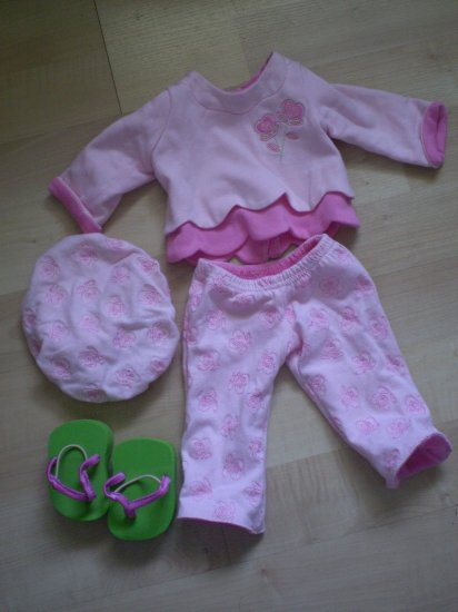American Girl Bitty Baby Playful Hearts Lot Clothes 0225