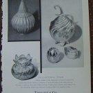 VINTAGE TIFFANY Sterling Vermeil 1960 AD~Gourd Artichoke Fruit