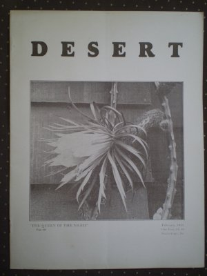 Desert Magazine February 1931 Vol II No. 10 Plants Cacti Flora