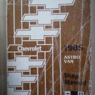 Chevrolet 1985 Astro Van Shop Manual Light Duty Truck M-Series