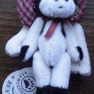 Boyds Bears T.F. Wuzzies Mini Plush Cow Ornament Trudy 595184