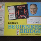 Goren's Beginners Bridge Milton Bradley 1967 4754 MB