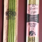 "Double Point Knitting Needles 7"" - Size 6 7 Aluminum Gold Green Vintage"