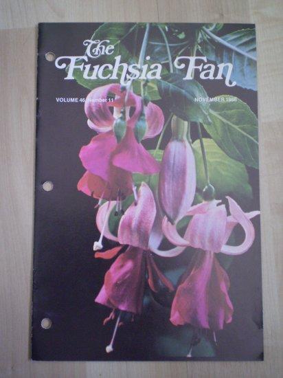 Fuchsia Fan Vol 46 #11 November 1986 Magazine