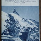 Jungfraujoch Switzerland Wengernalp Jungfrau Railways Brochure