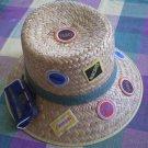 Panama Straw Hat Tourist Topps Pin Northwest Airlines Mini Bag
