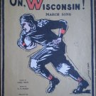On Wisconsin March Song Carl Beck W T Purdy 1919 Flanner Hafsoos Sheet Music