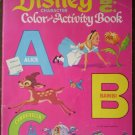 Walt Disney Character Color Activity Book Alice Bambi Cinderella Whitman 1657-33 1972