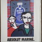 Absolut Vodka Ad lot Rodrigue Warhol Le Cocq Britto Marine 1995