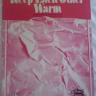 Keep Each Other Warm Sheet Music Barry Manilow Sinfield Hill 1986