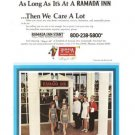 Ramada Inn Roadside Hotel Vintage Ad 1971 Family Girls Checkered