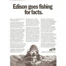 Southern California Edison Vintage Ad 1971 Goes Fishing