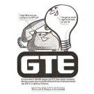GTE Phone Company Sylvania Lamps 1977 Vintage Ad