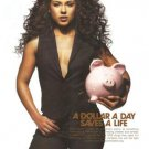 Alicia Keys Dollar a Day Saves A Life 2007 Ad keepachildalive Piggy Bank