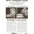 Kelloggs Concentrate Compact Food Cereal Vintage Ad 1961