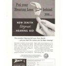 Signet Zenith Hearing Aid Vintage Ad 1961