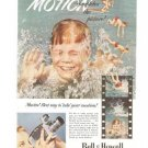 Bell Howell Movies Swimming Boy Vintage Ad 1952