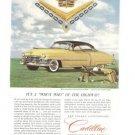 Cadillac Yellow Van Cleef Arpels Vintage Ad 1952