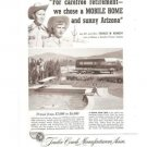 Trailer Coach Manufacturers Association Mobile Home Arizona Vintage Ad 1952