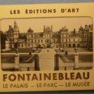 Fontainebleau France Photograph Souvenir Folder Les Editions D'Art Marque Deposee