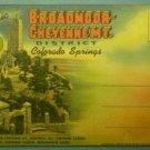 Broadmoor Cheyenne MT Colorado Springs Photograph Souvenir Folder Curt Teich