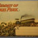 Summit Pikes Peak Colorado Souvenir Folder Photograph Manitou 1938