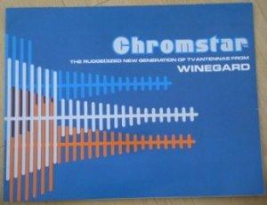 Chromstar Winegard TV Antennas Brochure Ad Vintage Fold-out