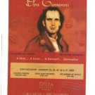 Don Giovanni Opera Pacific 2001 Ad 8 x 10.5 Original