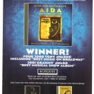 Aida Elton John Tim Rice Ad 8 x 10.5 Original