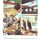 TWA 1965 2-page Vintage Ad French Trans World Airlines