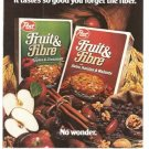 Post Fruit Fibre Cereal Vintage Ad 1983 Fiber General Foods Corp