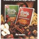 Post Fruit Fibre Cereal Vintage Ad 1983 Fiber General Foods Corp