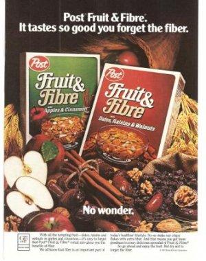 Fruit and fiber cereal