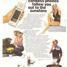 Cobraphone Cordless Telephones Vintage Ad 1983