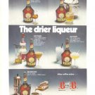 Benedictine Brandy B&B Vintage Ad 1972