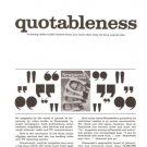 Newsweek Quotableness Magazine Vintage Ad 1966