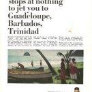 Air France Guadeloupe Barbados Trinidad Vintage Ad 1966
