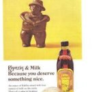 Kahlua and Milk Coffee Licqueur Mexico Vintage Ad 1970