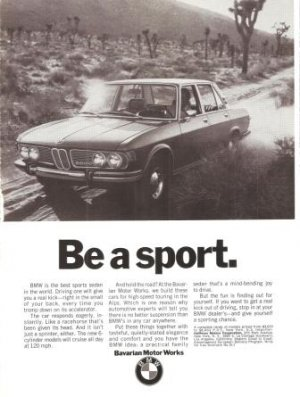 Motor Works on Bmw 2800 Sedan Bavarian Motor Works Car Vintage Ad 1970